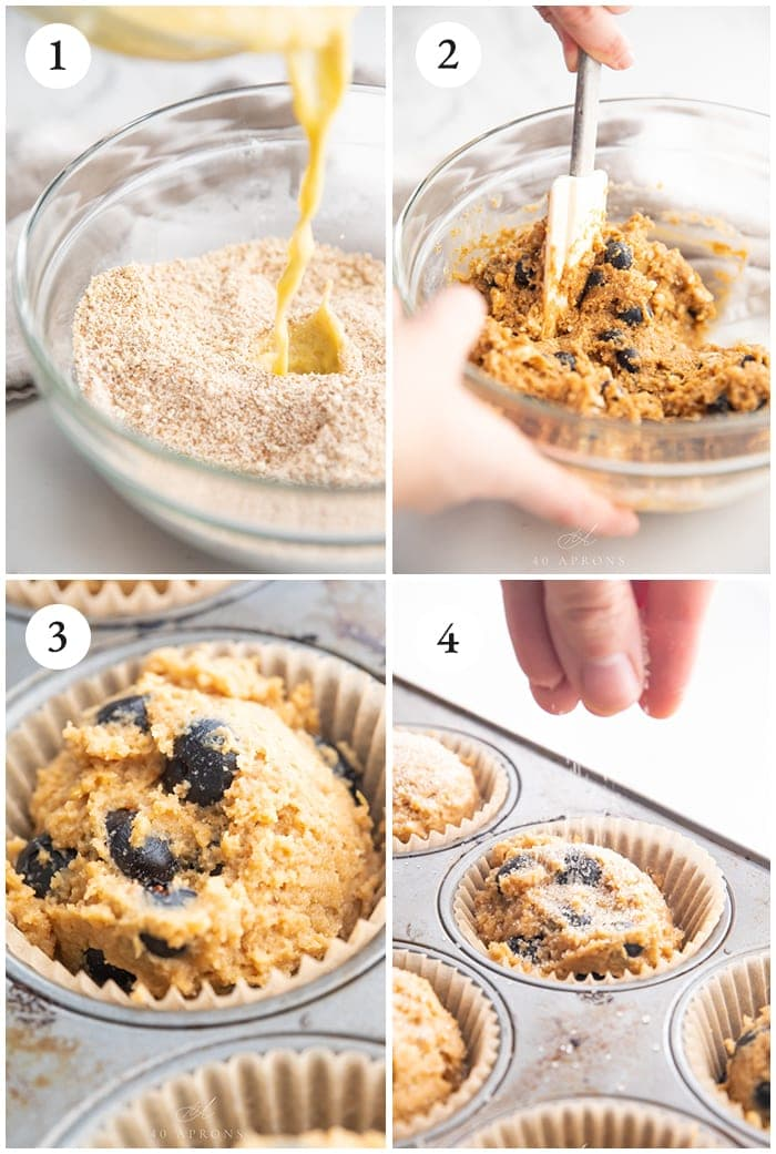 Paleo blueberry muffin step by step instructions