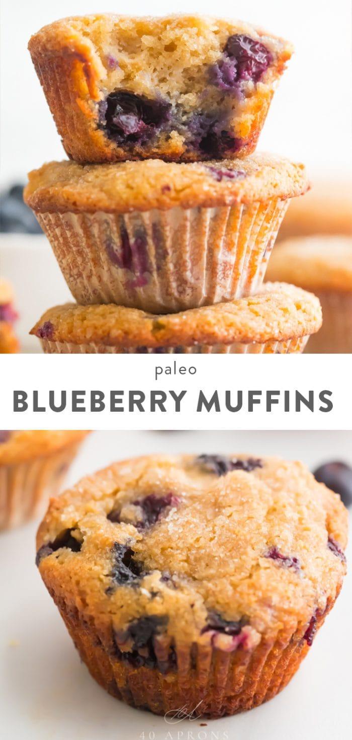 Paleo Blueberry Muffins Pinterest Image