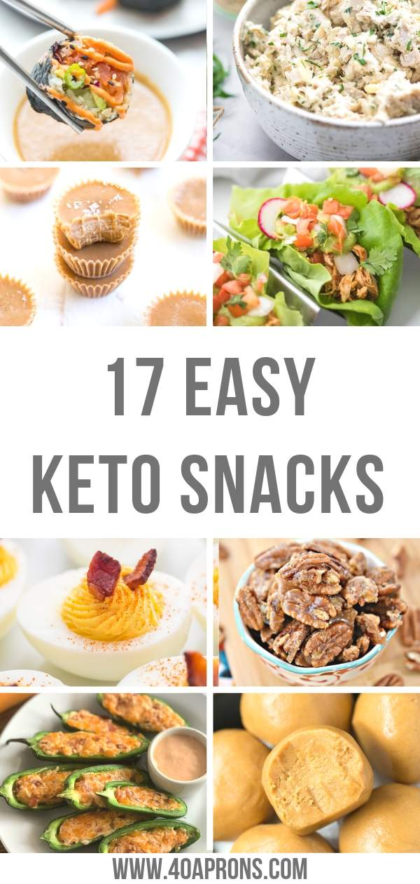 Keto Snacks Recipes Pinterest Graphic