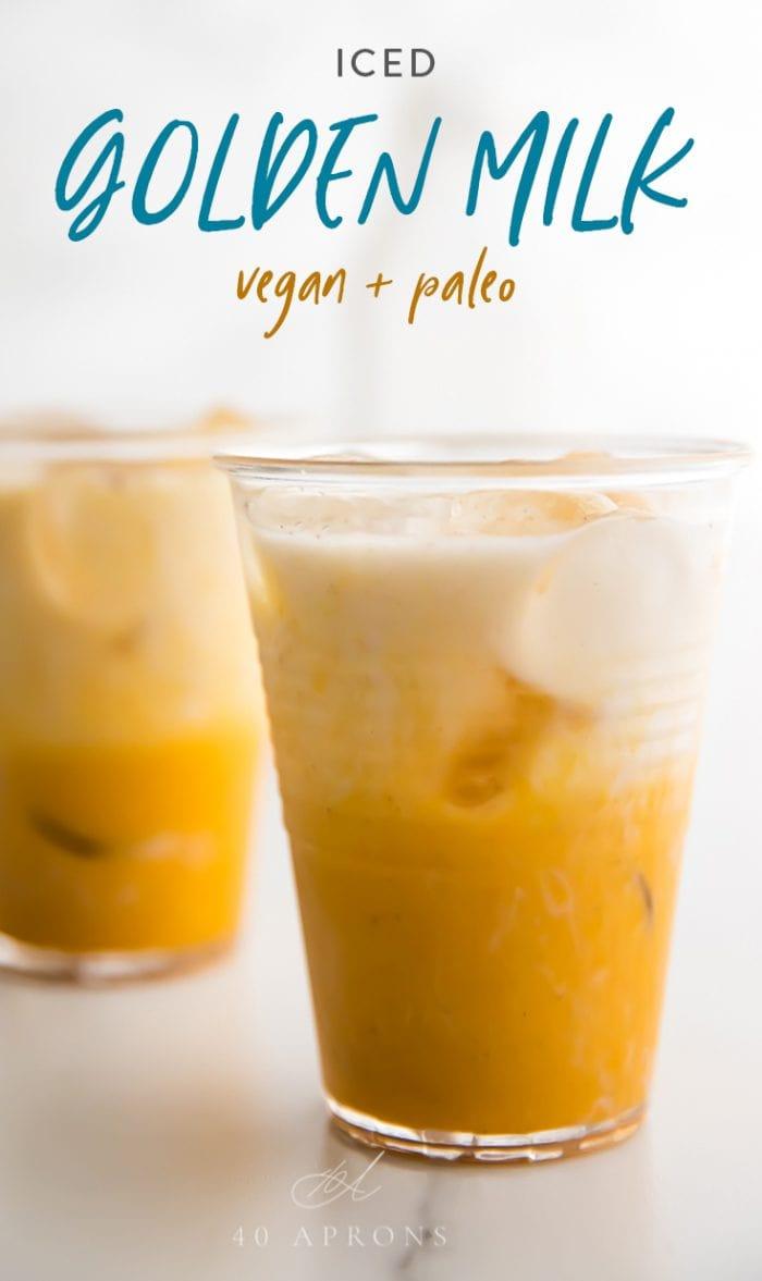 Iced golden milk Pinterest image