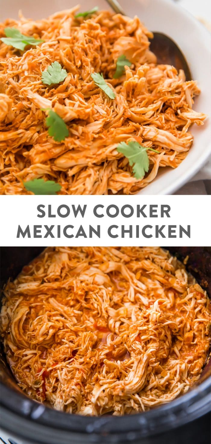 Slow Cooker Mexican Shredded Chicken Pinterest Image