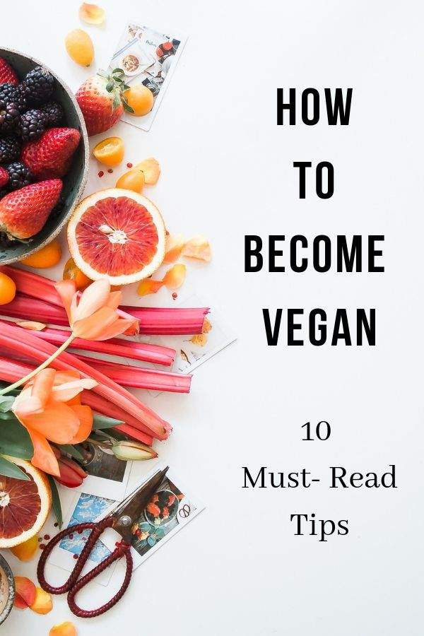 How to become vegan Pinterest Graphic