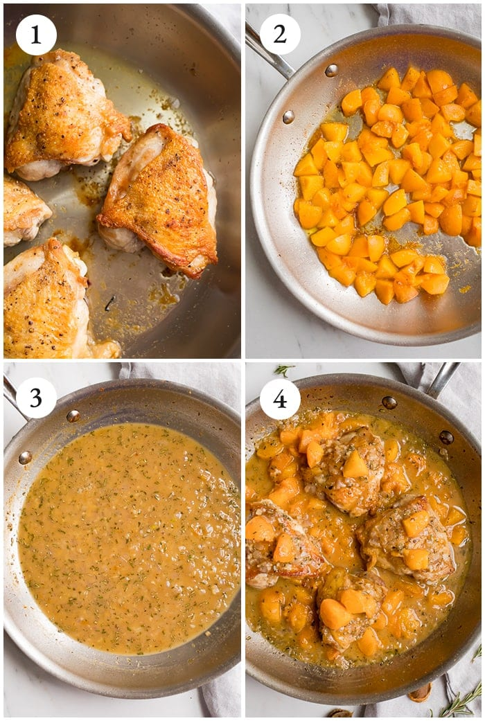 Apricot chicken instructions graphic