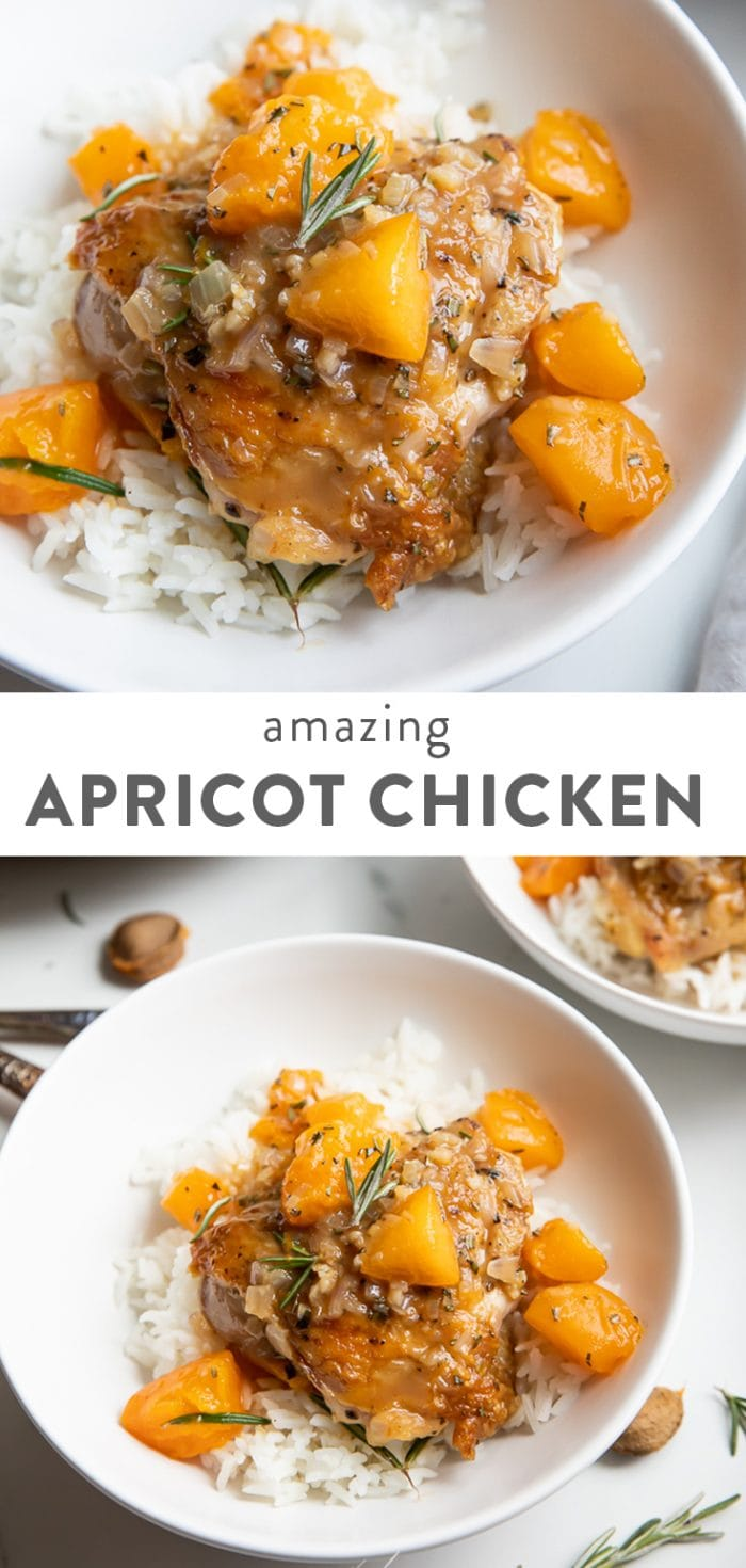 Amazing apricot chicken text