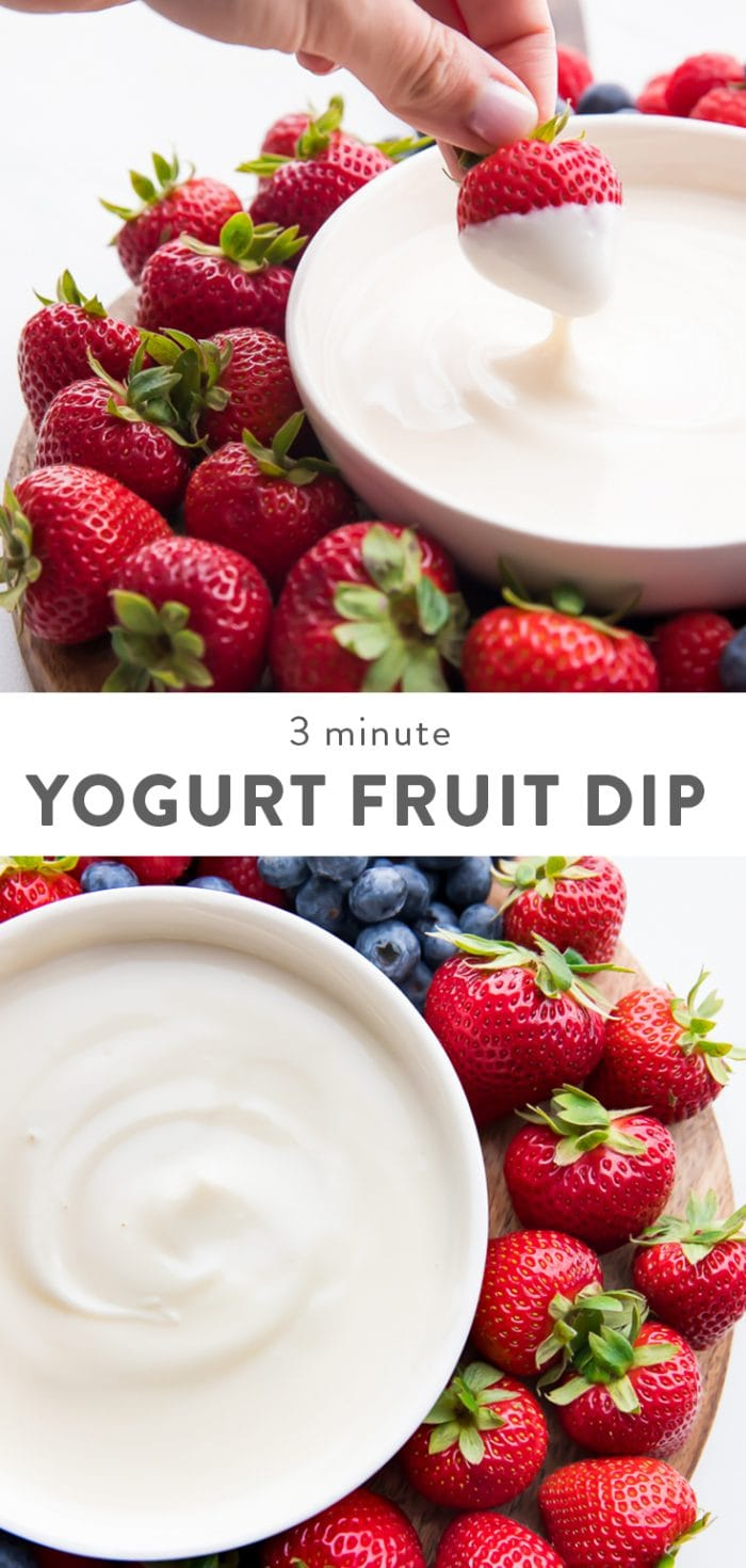 Easy Yogurt Fruit Dip Pinterest Graphic
