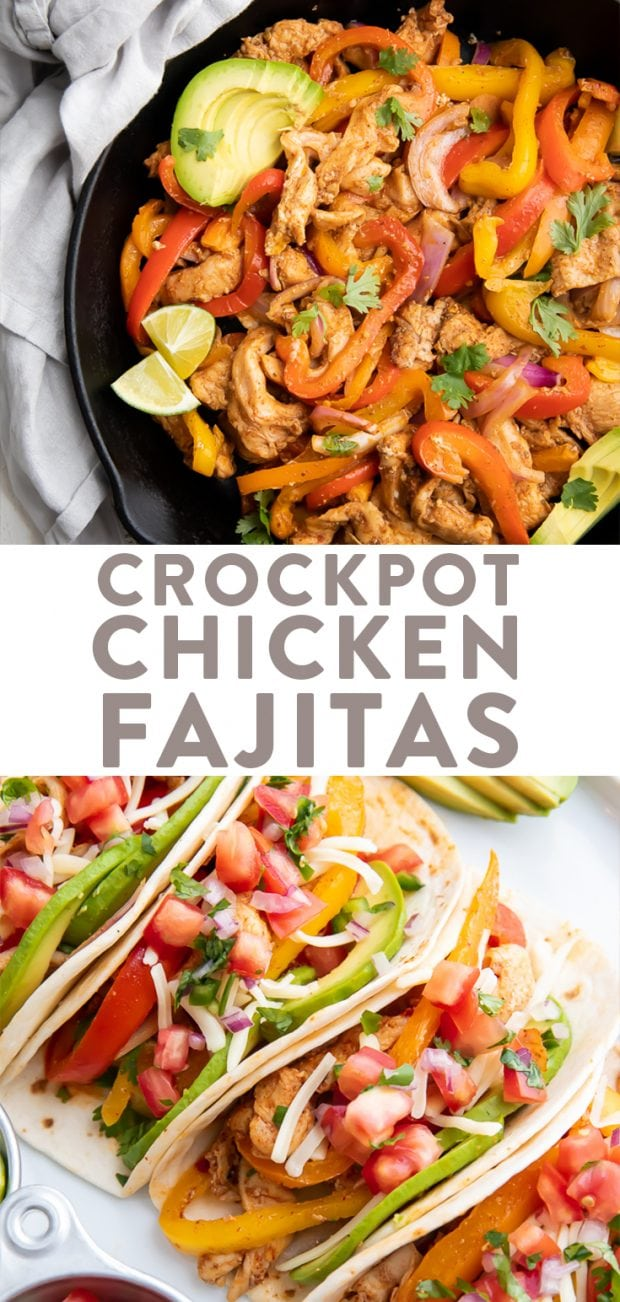 Crockpot Chicken Fajitas Pinterest graphic