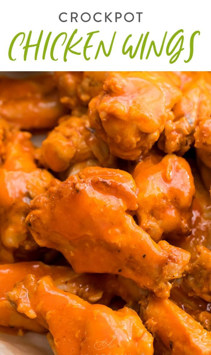 Crockpot chicken wings Pinterest graphic