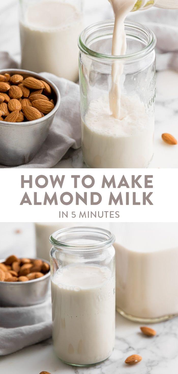 How to Make Almond Milk Pinterest graphic