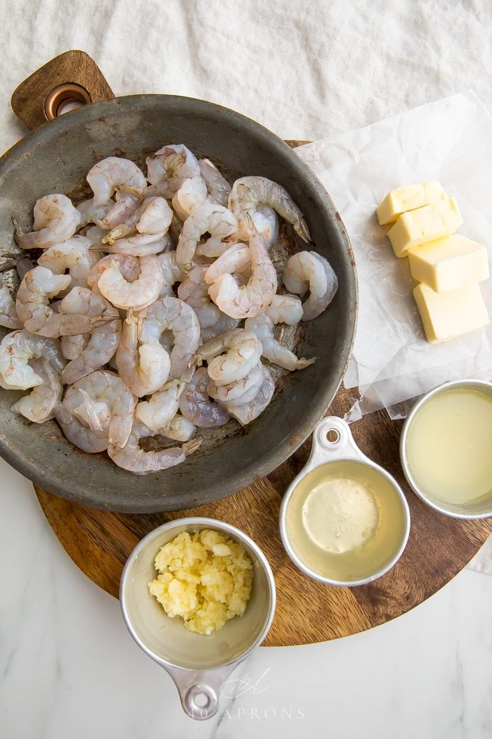Lemon garlic shrimp ingredients