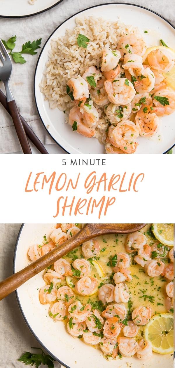 Lemon Garlic Shrimp Pinterest graphic