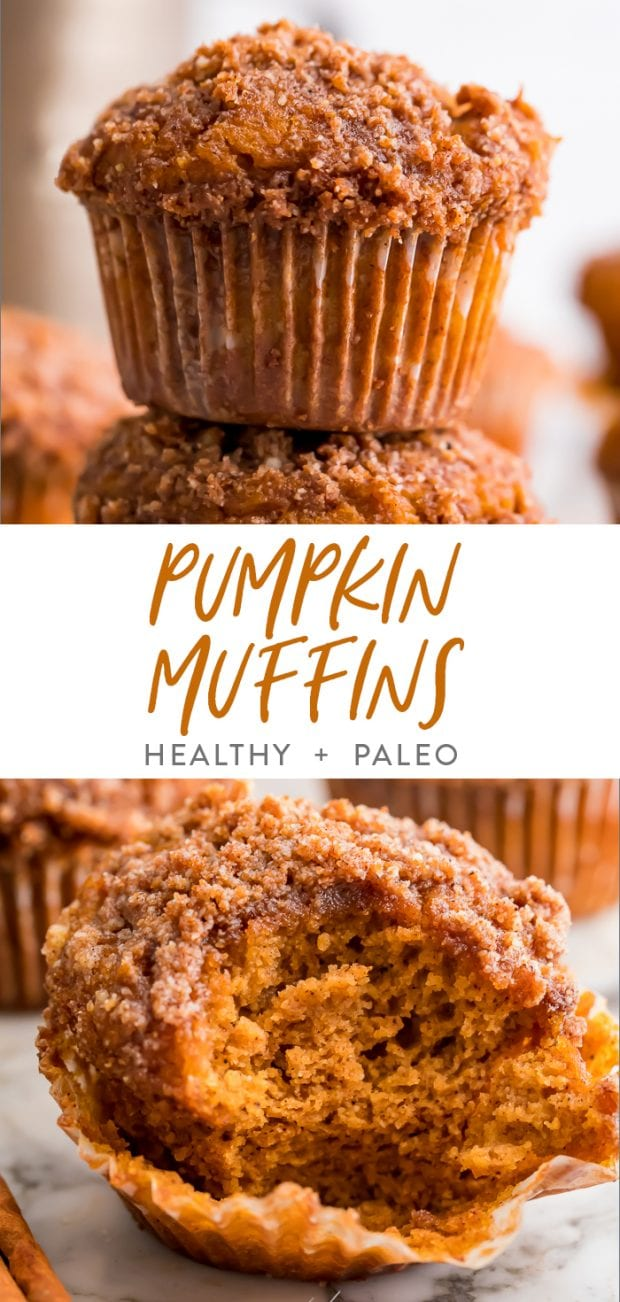 Healthy pumpkin muffins Pinterest graphic