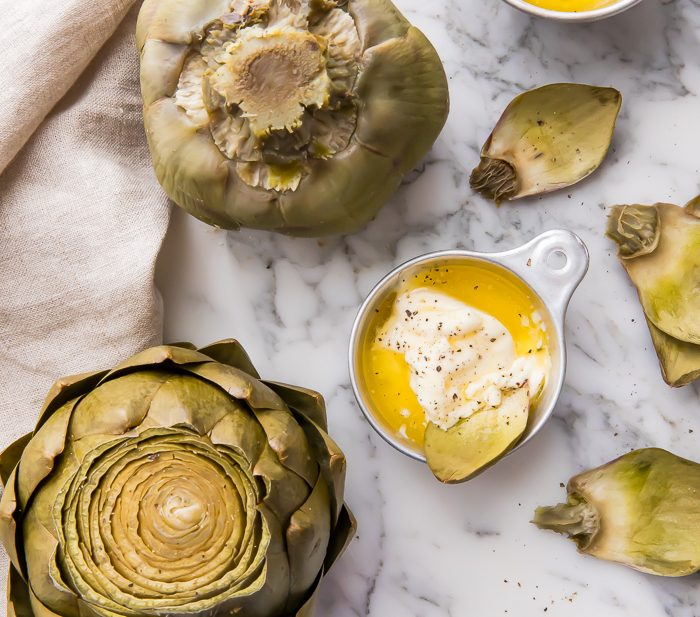 Instant pot artichokes with dipping sauce