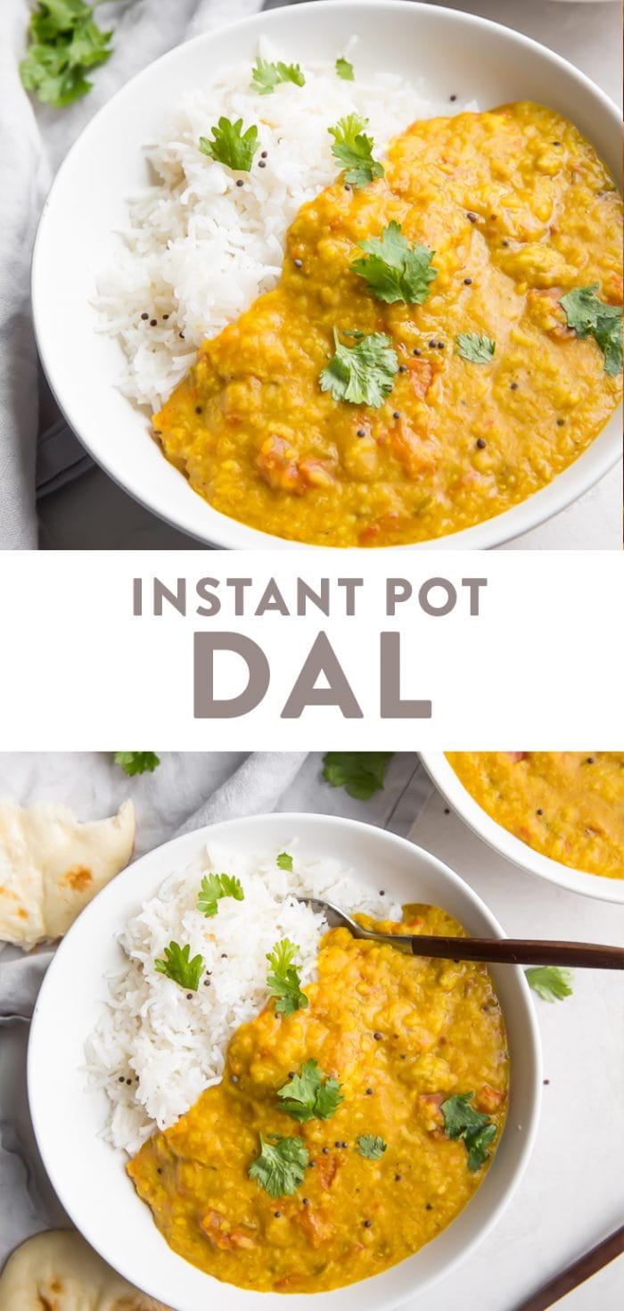Instant Pot Dal Pinterest graphic