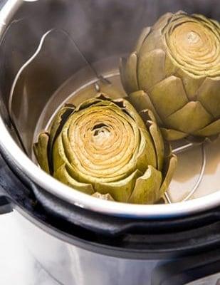 Steamed artichokes in Instant Pot