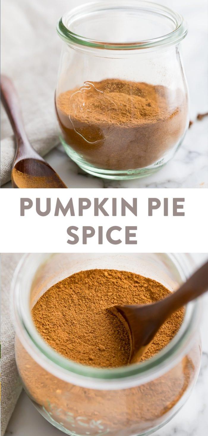 Pumpkin pie spice Pinterest graphic