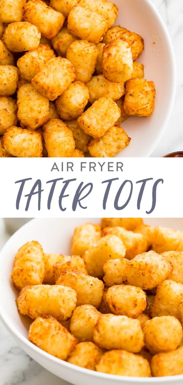 Air Fryer Tater Tots Pinterest Graphic