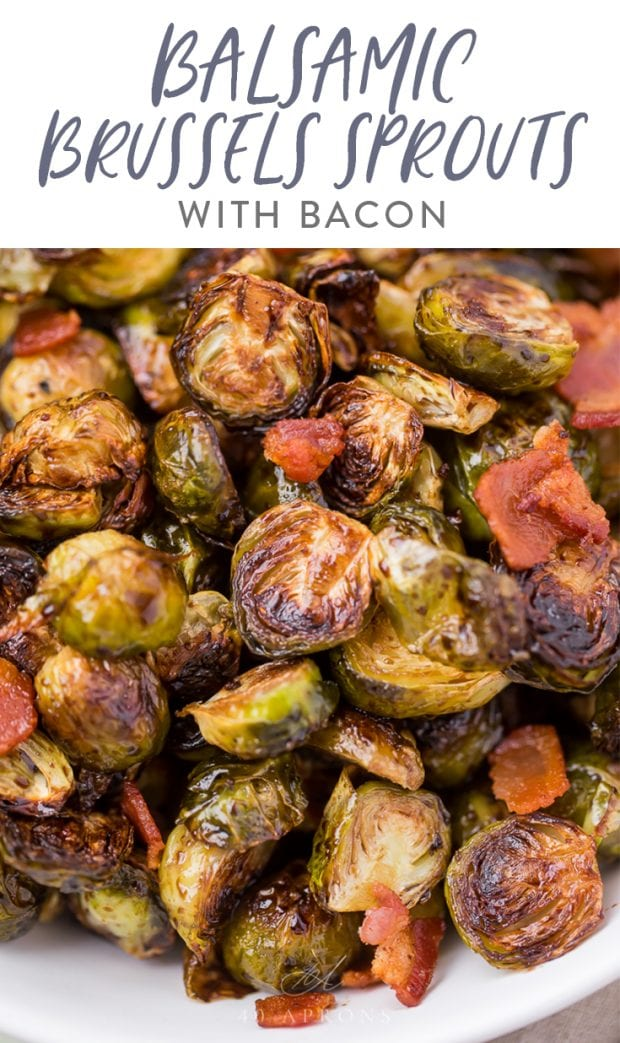 balsamic Brussels sprouts Pinterest graphic