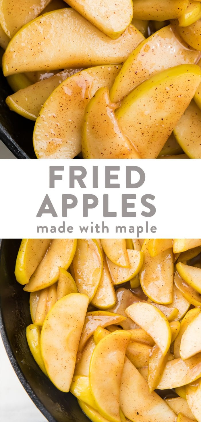 Classic healthy fried apples Pinterest graphic