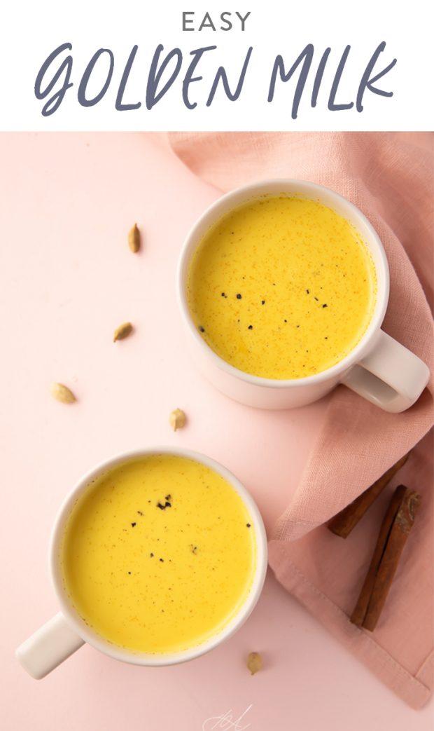 Easy Golden Milk Pinterest graphic