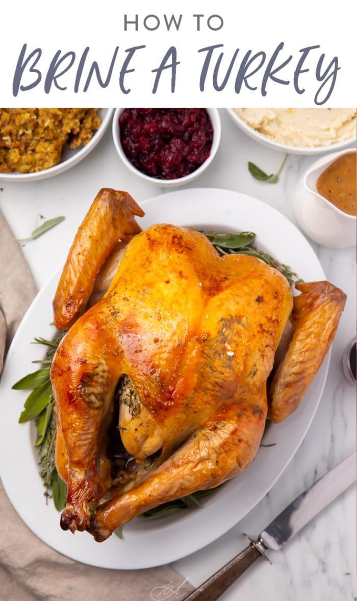 How to brine a turkey Pinterest graphic