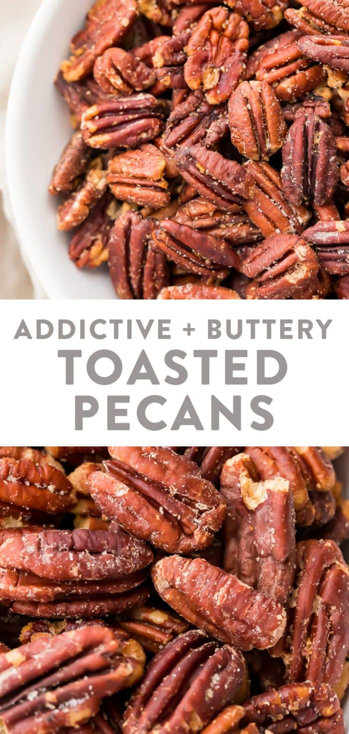 Toasted pecans Pinterest graphic