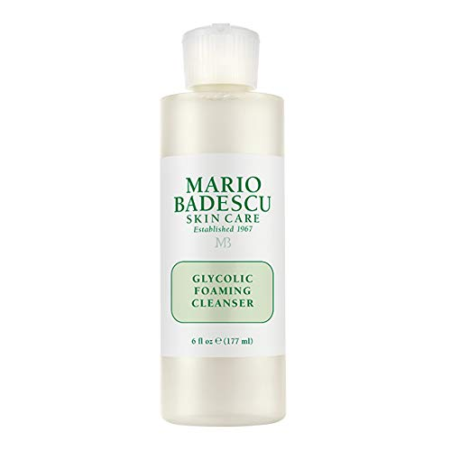 a bottle of Mario Badescu Glycolic Acid Foaming Cleanser against a white background