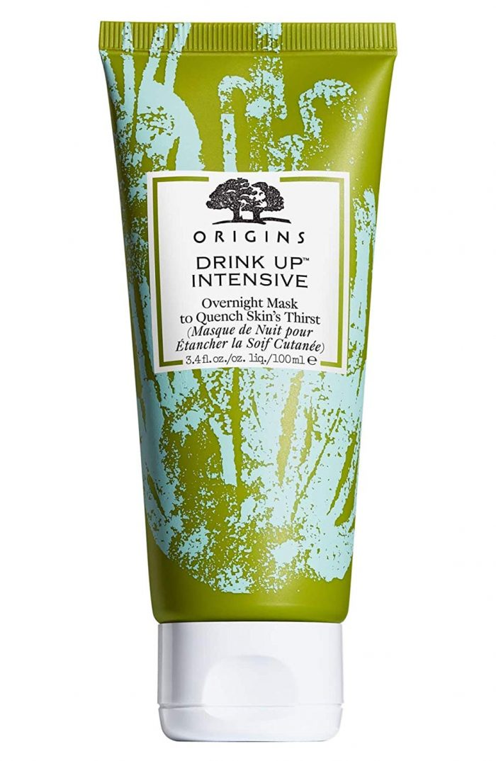 a tub of Origins Drink Up Intensive Overnight Mask for dry winter skin