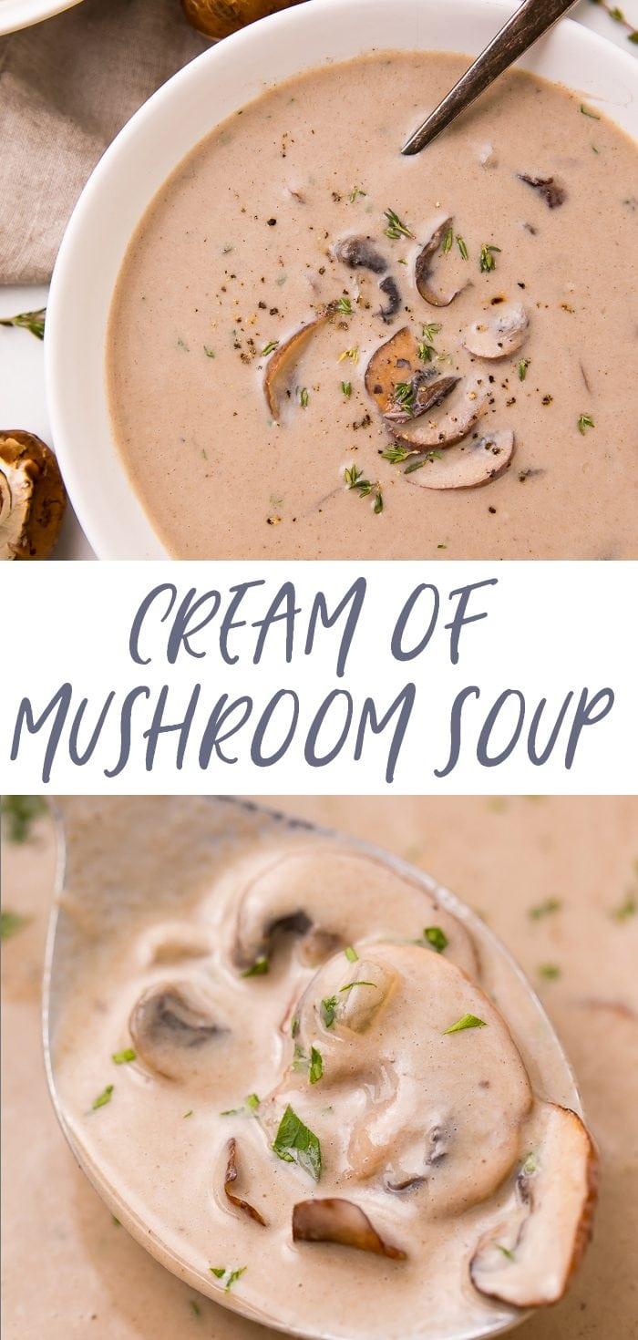 Cream of mushroom soup Pinterest graphic