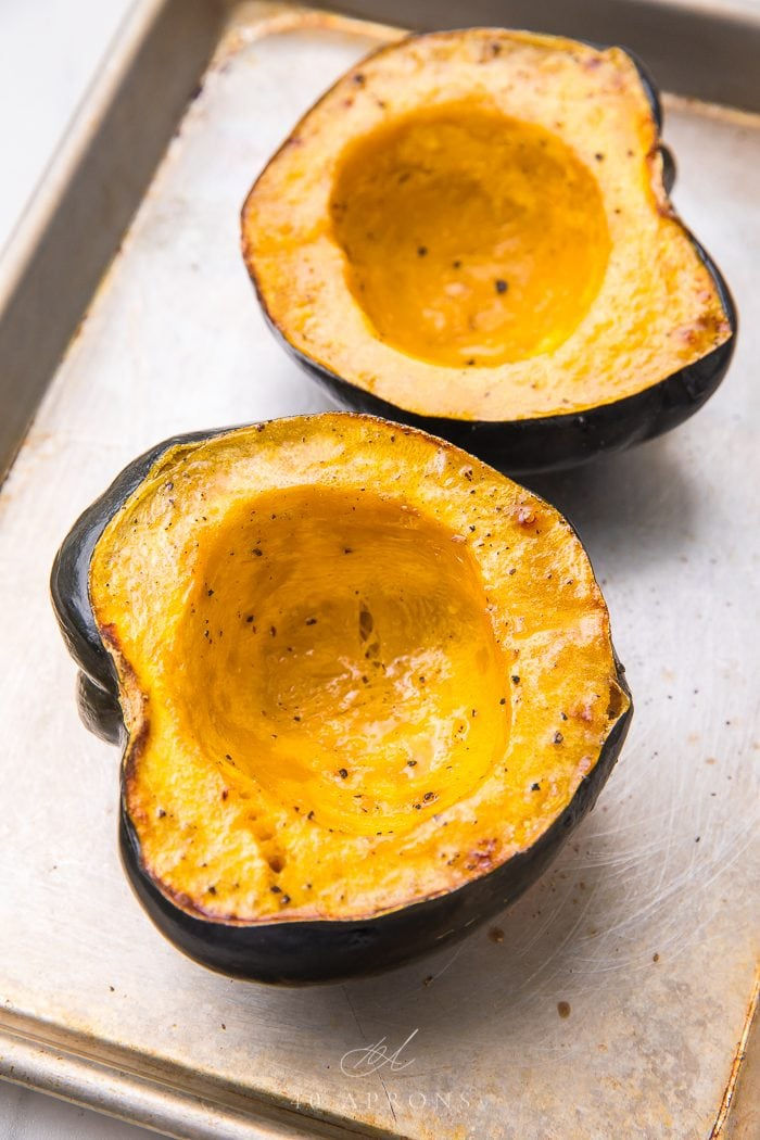 Baked squash ready to eat