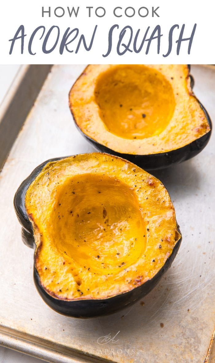 How to Cook Acorn Squash Pinterest image