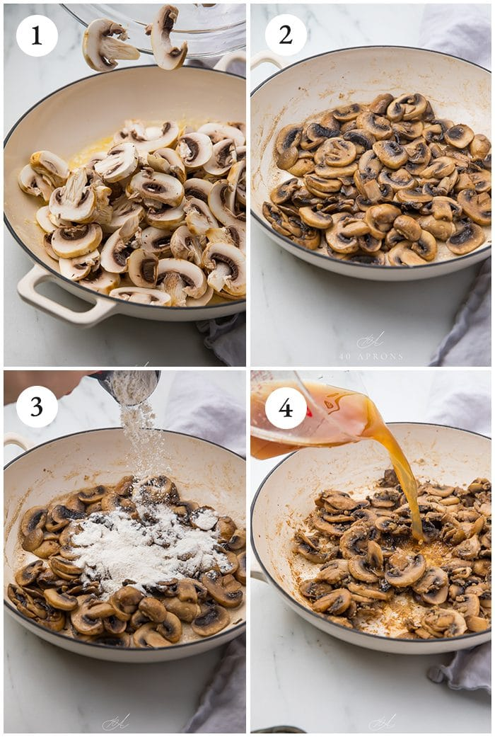 Process shots to show hoe to make the recipe