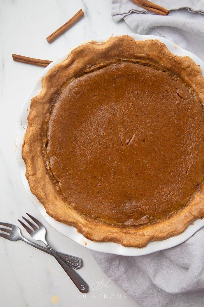 The baked paleo pumpkin pie