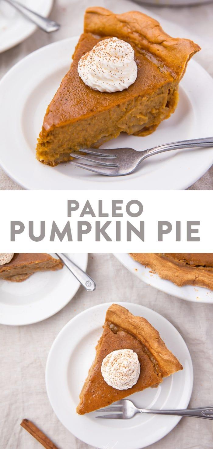 Paleo Pumpkin Pie Pinterest graphic