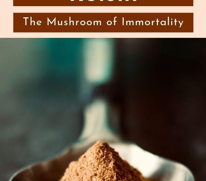 pinterest image of reishi mushrooms for healthy