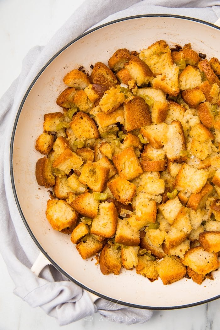 The stuffing ready to use on a white plate