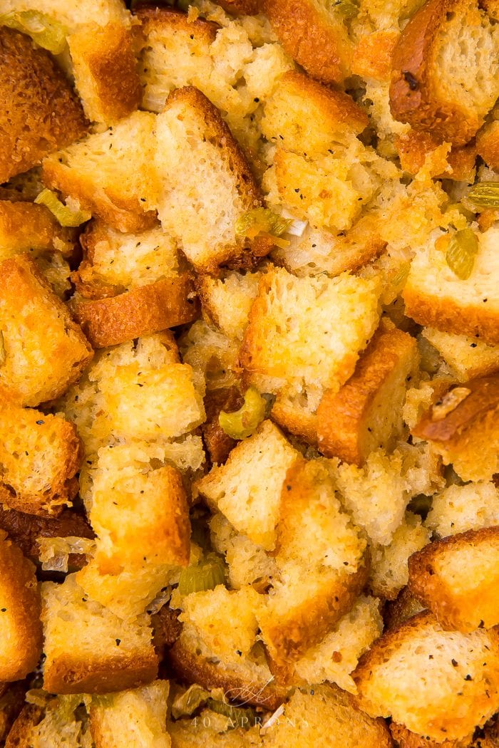 Close up of the stuffing
