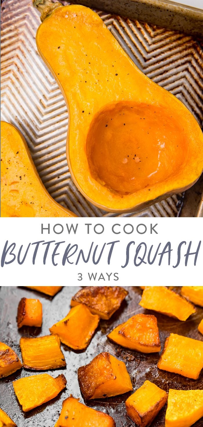 How to cook butternut squash Pinterest graphic