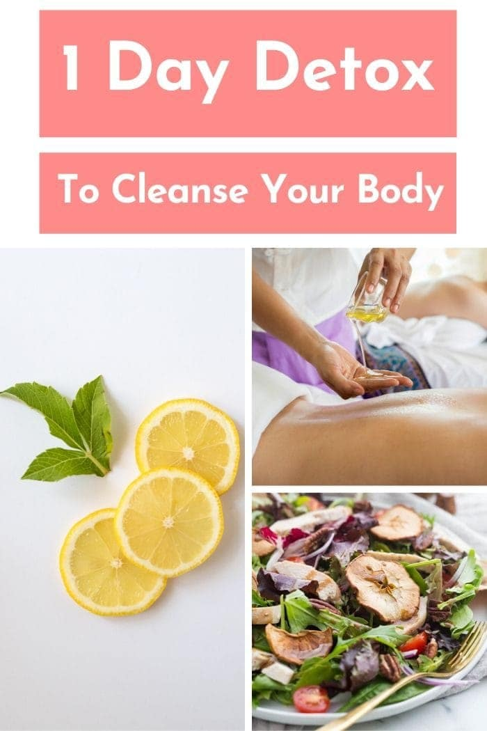 different ways to quickly detox your body gathered in a picture collage
