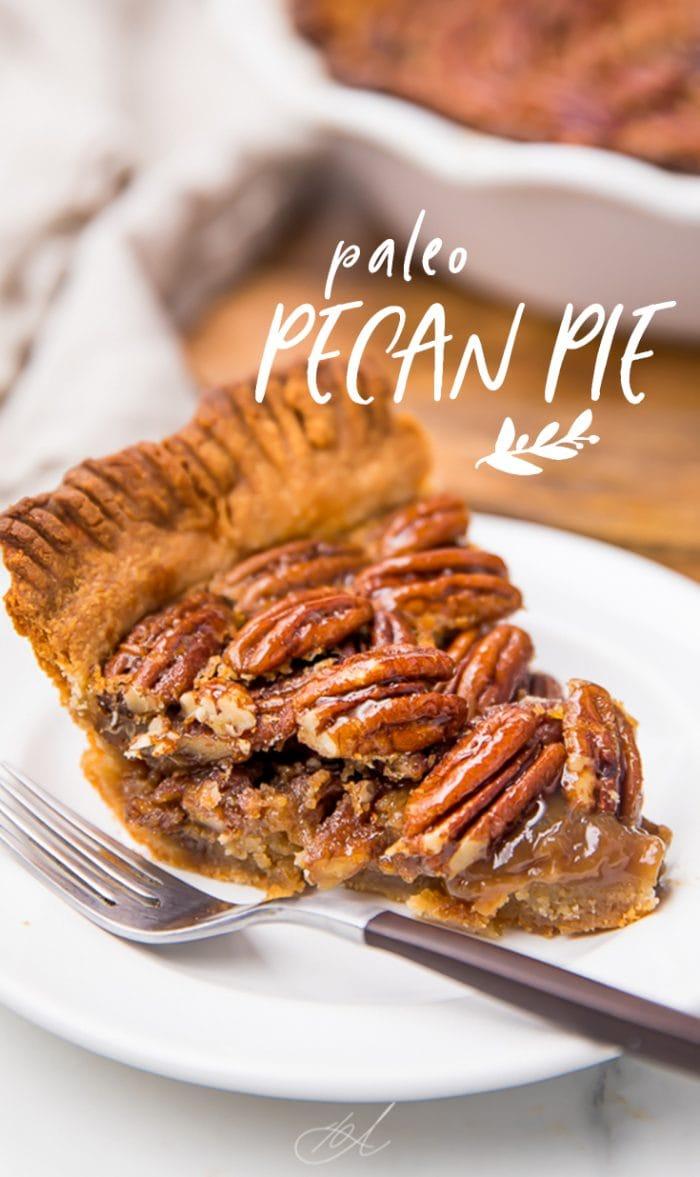 Paleo Pecan Pie Pinterest graphic