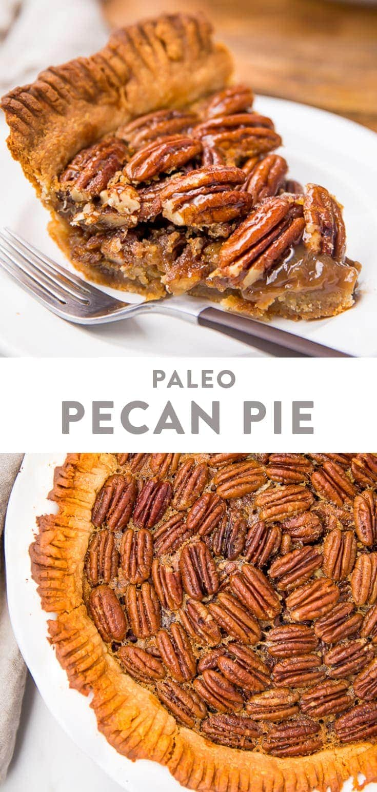 Paleo Pecan Pie Pinterest graphic