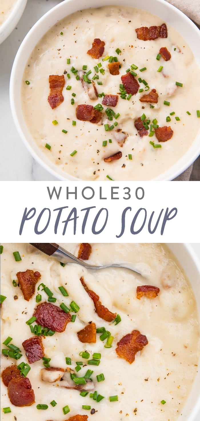 Whole30 Potato Soup Pinterest graphic