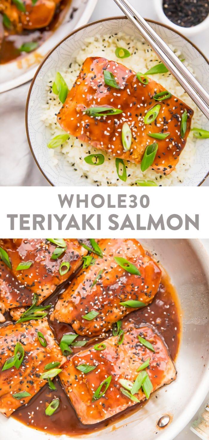 Whole30 Teriyaki Salmon Pinterest graphic