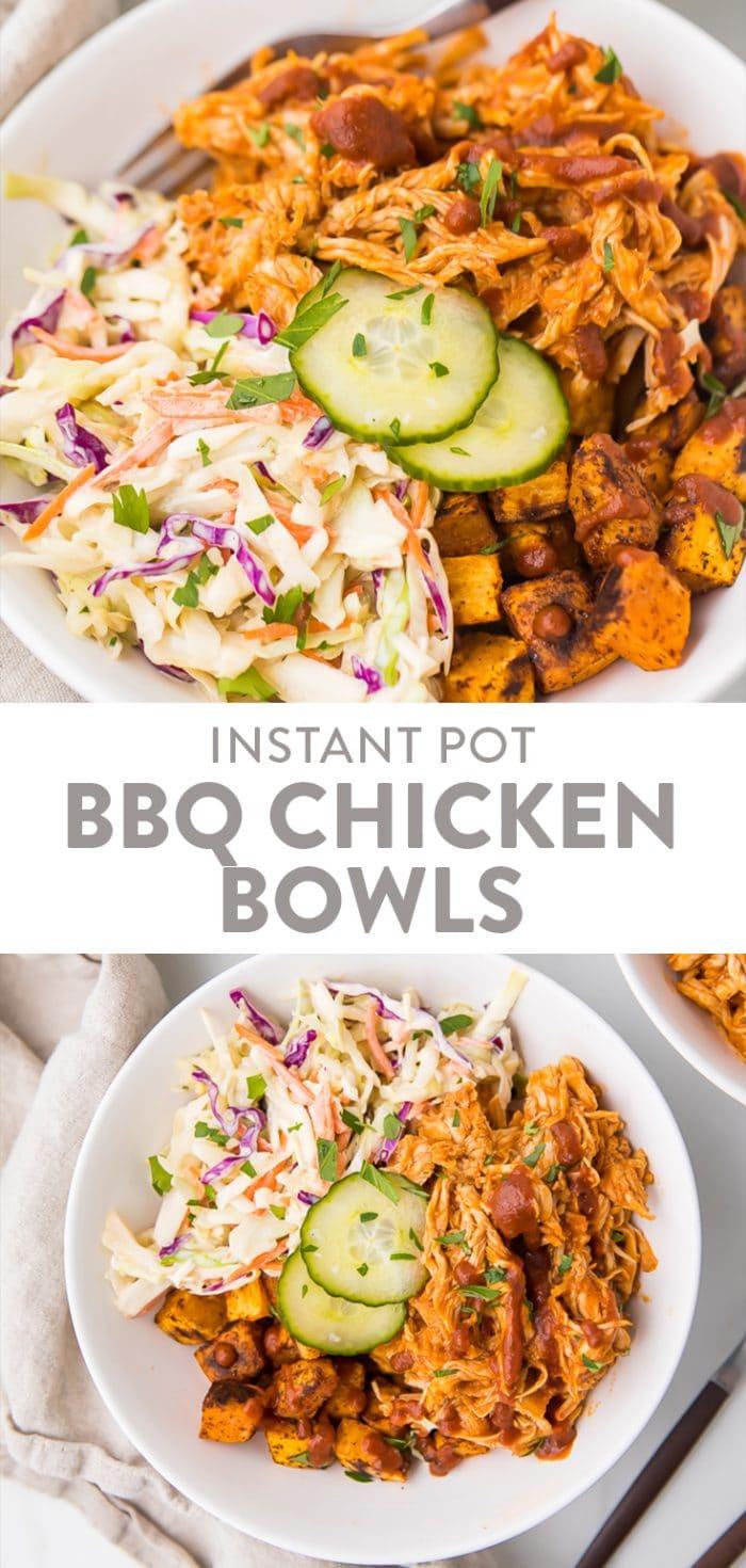 BBQ Chicken Bowls (Whole30, Paleo) Pinterest graphic