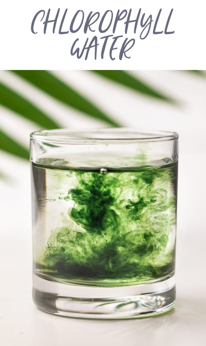 Chlorophyll Water Pinterest graphic
