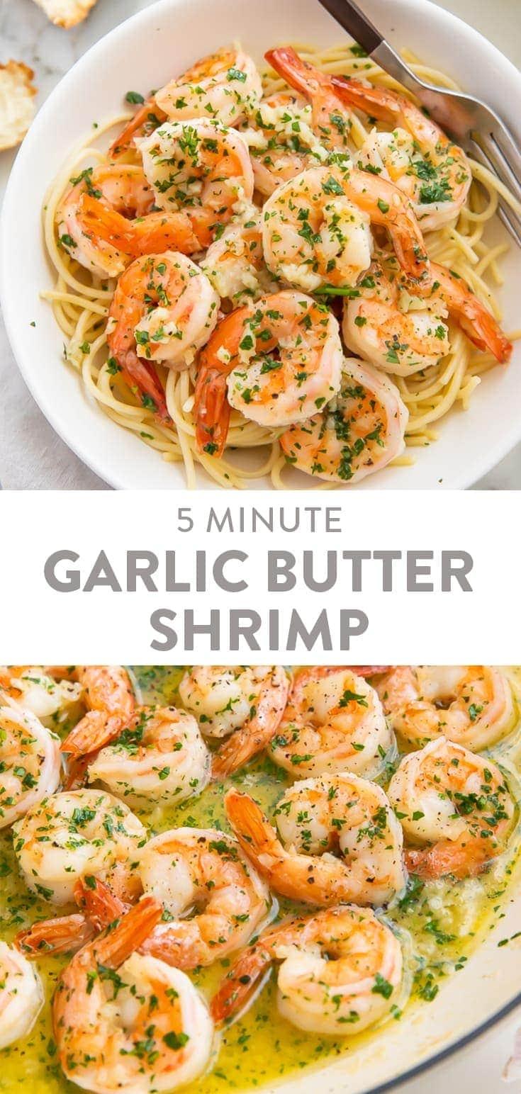 Garlic Butter Shrimp Pinterest graphic