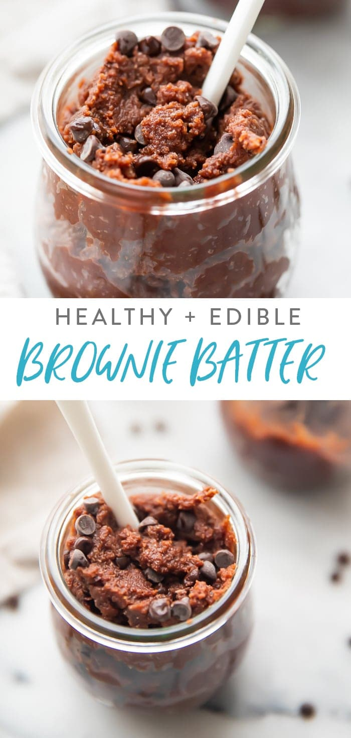 Healthy Edible Brownie Batter Pinterest graphic