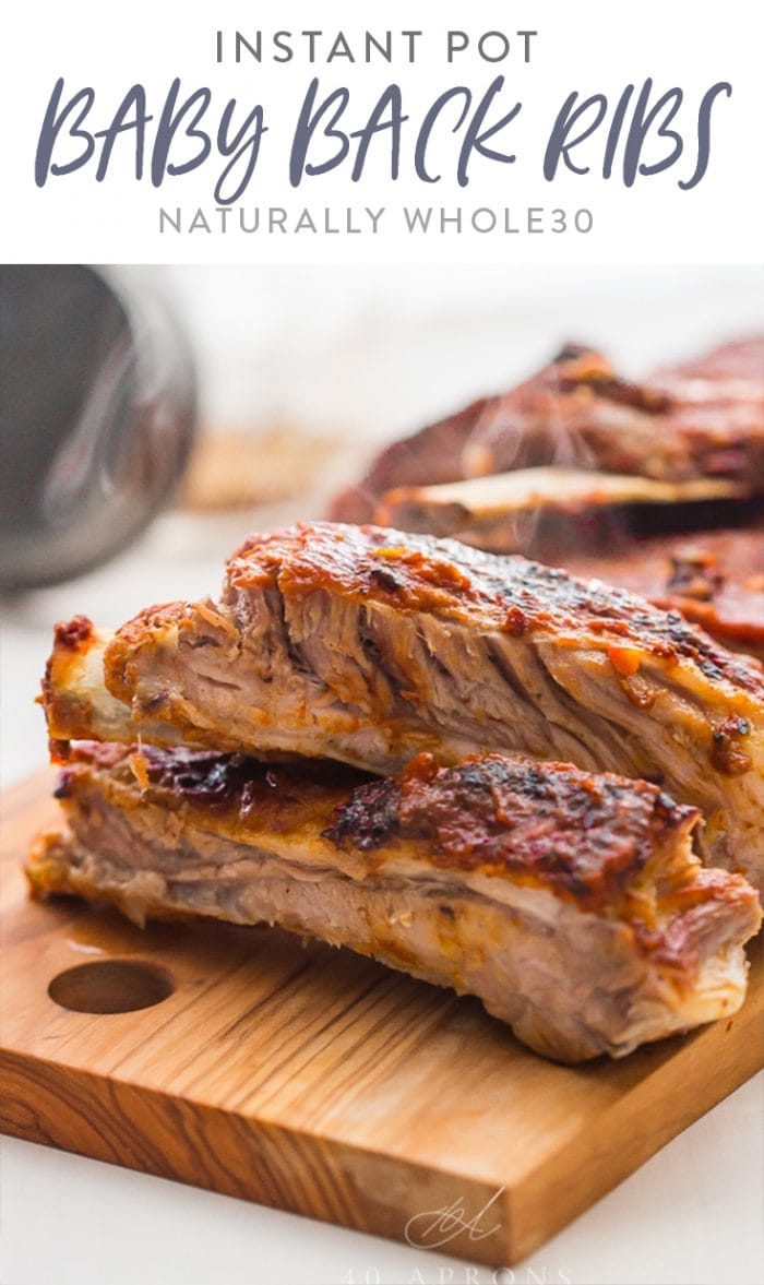 Instant Pot Baby Back Ribs (Whole30) Pinterest graphic