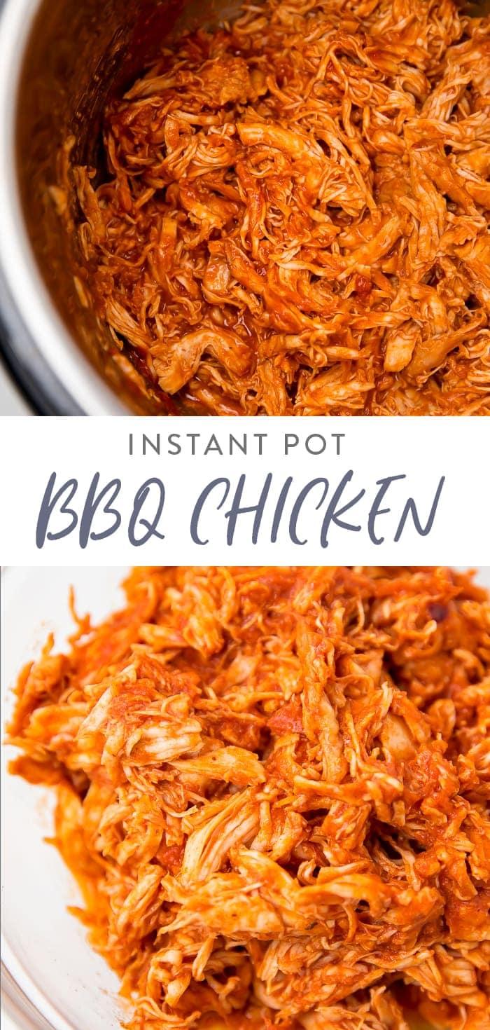 Instant Pot BBQ Chicken Pinterest graphic