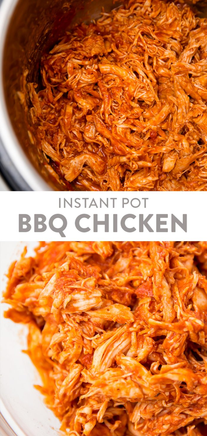 Instant Pot BBQ Chicken Pinterest graphic