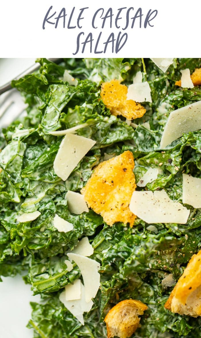 Kale Caesar Salad Pinterest graphic